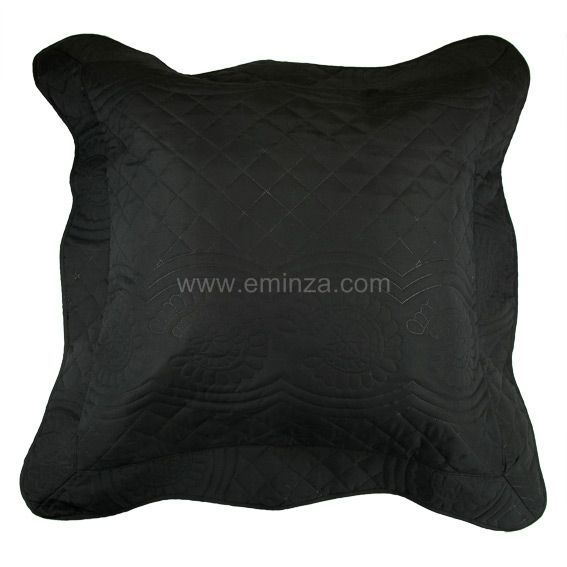 coussin et galette noir eminza. Black Bedroom Furniture Sets. Home Design Ideas