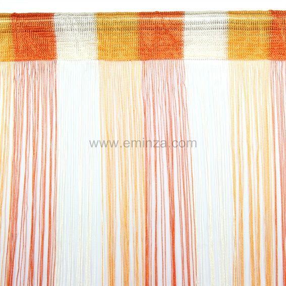 rideau orange et noir. Black Bedroom Furniture Sets. Home Design Ideas