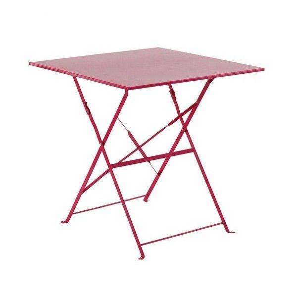 table de jardin pliante en metal