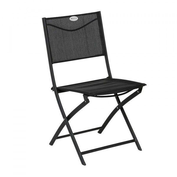 chaise de jardin pliante modula noir chaise et fauteuil de jardin eminza. Black Bedroom Furniture Sets. Home Design Ideas