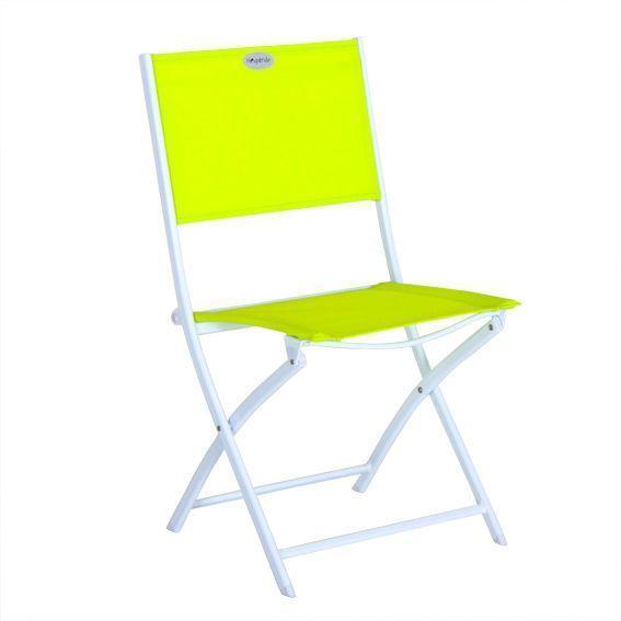 Chaise de jardin Modula Anis - Blanc - Salon de jardin, table et ...