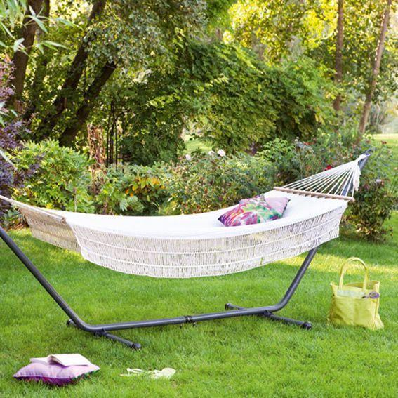 hamac sur pied opale ecru transat et hamac eminza. Black Bedroom Furniture Sets. Home Design Ideas