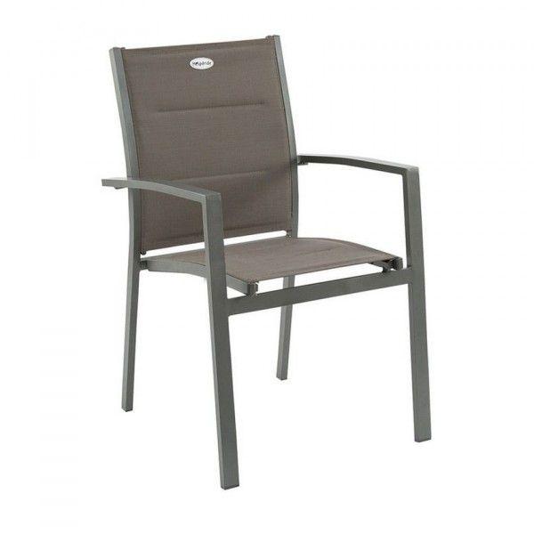Chaise et fauteuil de jardin salon de jardin table et chaise eminza - Salon de jardin hesperide azua gris ...