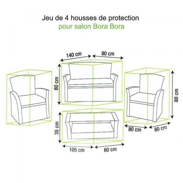 jeu de housses protection pour salon bora bora textile d 39 ext rieur eminza. Black Bedroom Furniture Sets. Home Design Ideas
