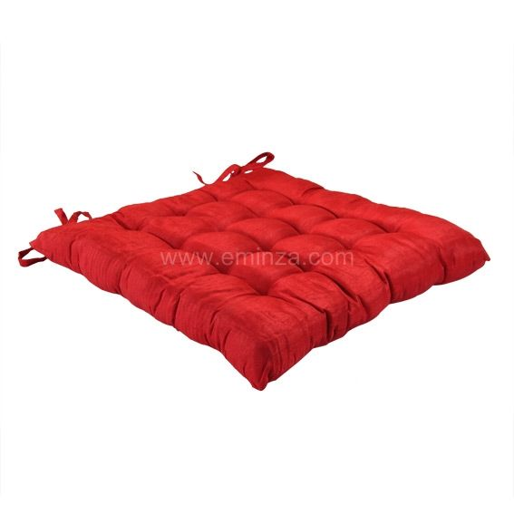 Coussin De Chaise Carre Luxe Rouge