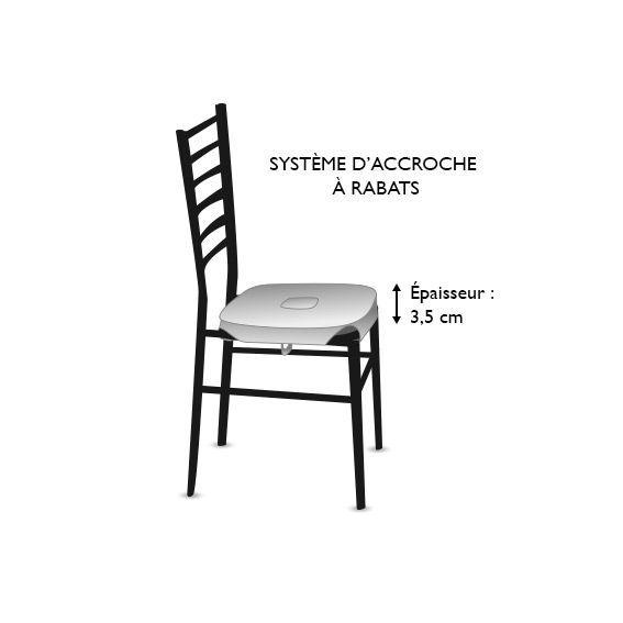 Galette de chaise carrée Macarons Prune