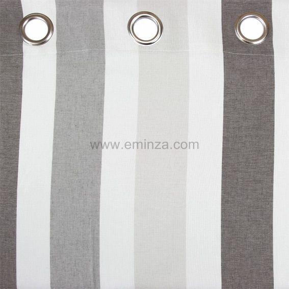 rideau et voilage style bord de mer taupe eminza. Black Bedroom Furniture Sets. Home Design Ideas