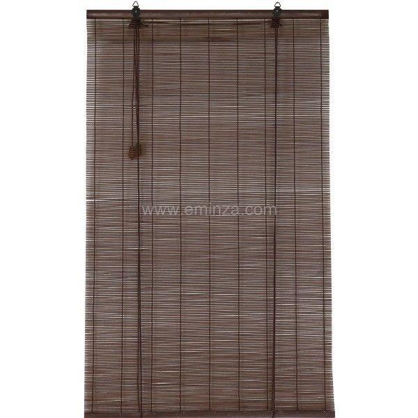 Bambusrollo 40 X 90 Cm Braun Gardinen Vorhange Rollos Eminza