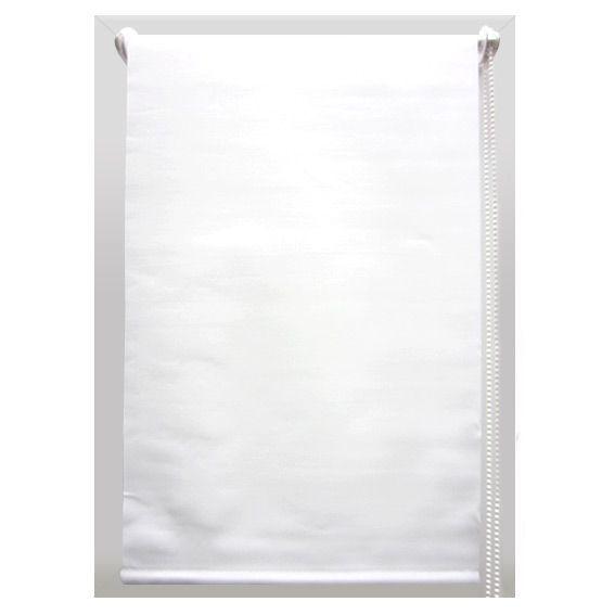 Store enrouleur occultant (45 x 180 cm) Uni Blanc - Store enrouleur ...