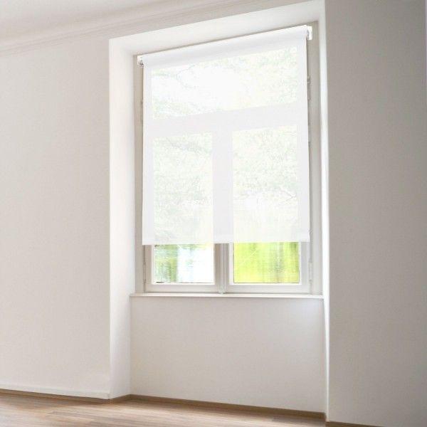 Store enrouleur tamisant (60 x H90 cm) Uni Blanc - Rideau / Voilage ...