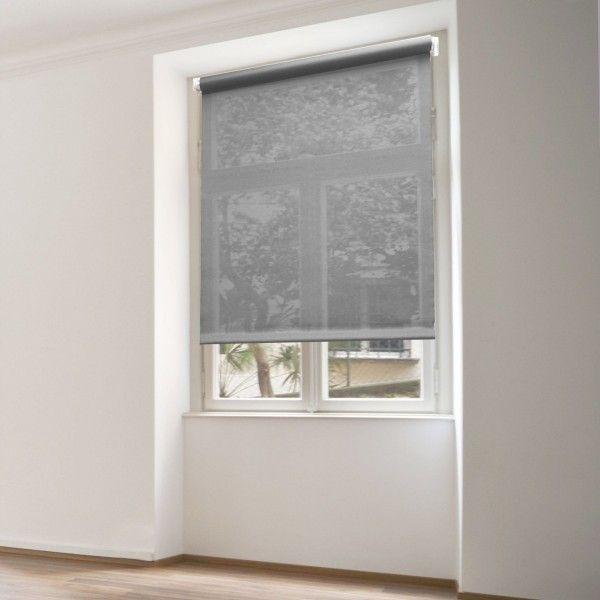 store enrouleur tamisant 60 x h90 cm uni gris rideau voilage store eminza. Black Bedroom Furniture Sets. Home Design Ideas