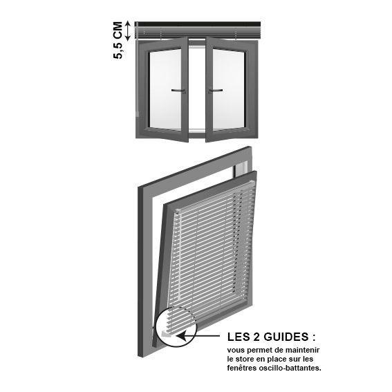 store v nitien 50 x 90 cm pvc blanc store v nitien eminza. Black Bedroom Furniture Sets. Home Design Ideas