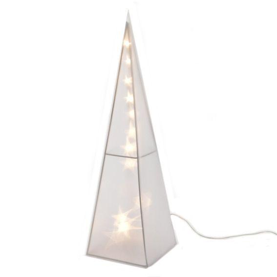 Pyramide lumineuse hologramme 16 LED Blanc chaud