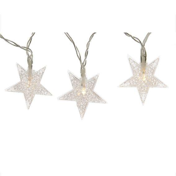 Guirlande lumineuse Etoiles Stella LED Blanc chaud