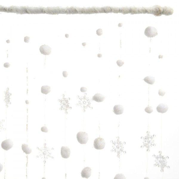 Tenda di natale per finestre fiocchi e palline di neve decorazione per finestra eminza - Finestre di natale ...