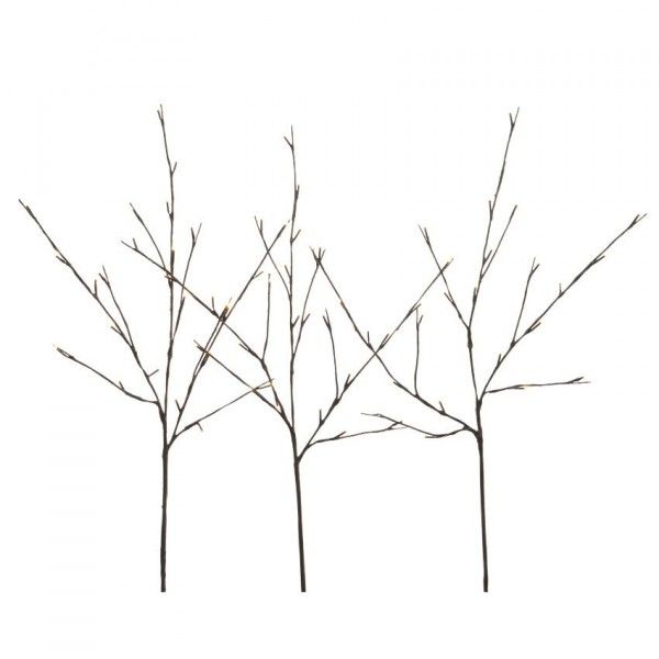 Lot de 3 branches lumineuses Iwu (72 LED) Blanc chaud