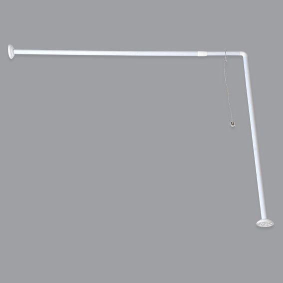 Barre d 39 angle pour baignoire extensible barre rideau de - Tringle rideau douche angle ...
