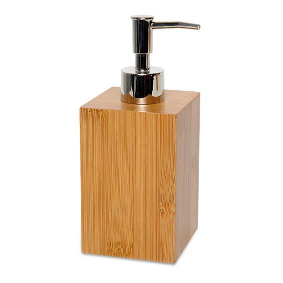 Distributeur de savon Ecobio Bois & Bambou - Accessoire Salle de ...