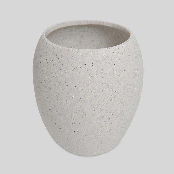 Gobelet granite gris accessoire salle de bain eminza - Accessoire salle de bain gris ...