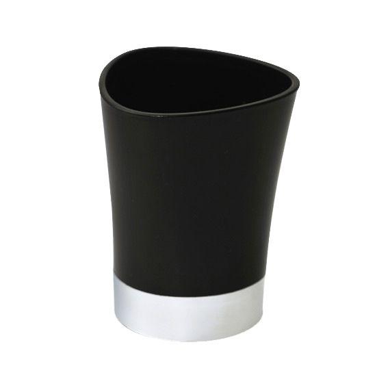 Gobelet happy noir accessoire salle de bain eminza - Accessoire salle de bain noir ...