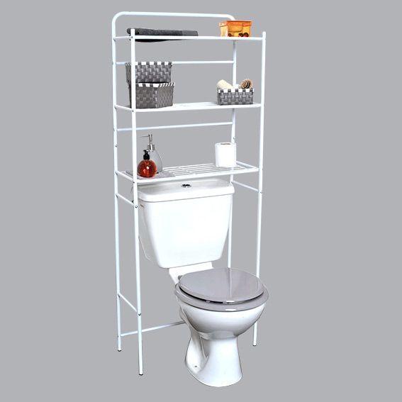 Meuble dessus WC Métal Blanc - Meuble de salle de bain - Eminza