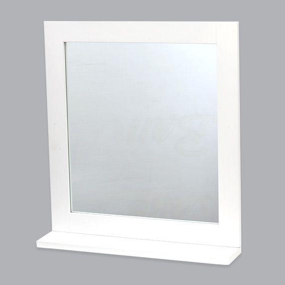Miroir Cosy Blanc Accessoire Salle De Bain Eminza
