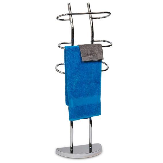 porte serviette sur pied porte serviette sur pied 3 bras chrome rangement eminza