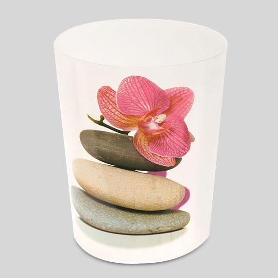 Poubelle bien tre rose accessoire salle de bain eminza - Poubelle salle de bain rose ...