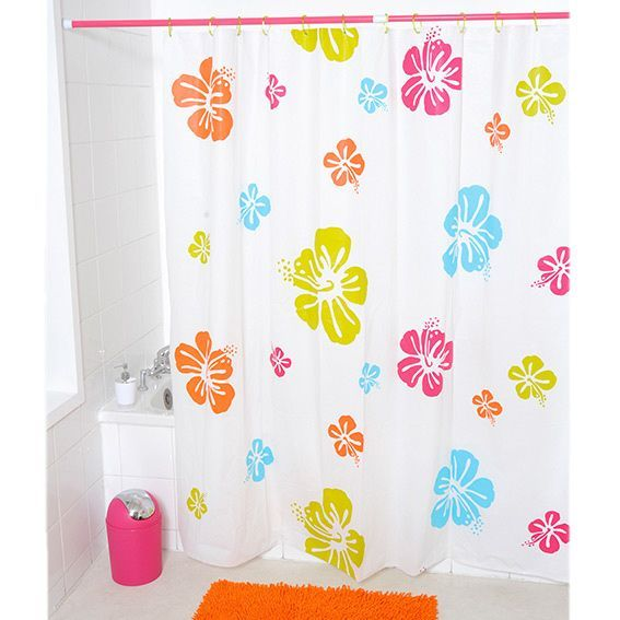 Rideau de douche Flowers Multicolore