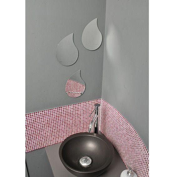lot de 3 miroirs gouttes d 39 eau miroir eminza. Black Bedroom Furniture Sets. Home Design Ideas