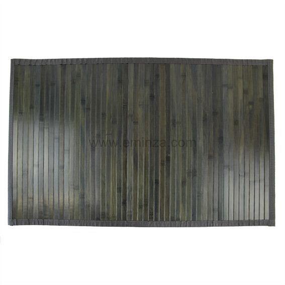 Tapis de bain tapis salle de bain tapis contour wc eminza - Tapis bambou grande taille ...