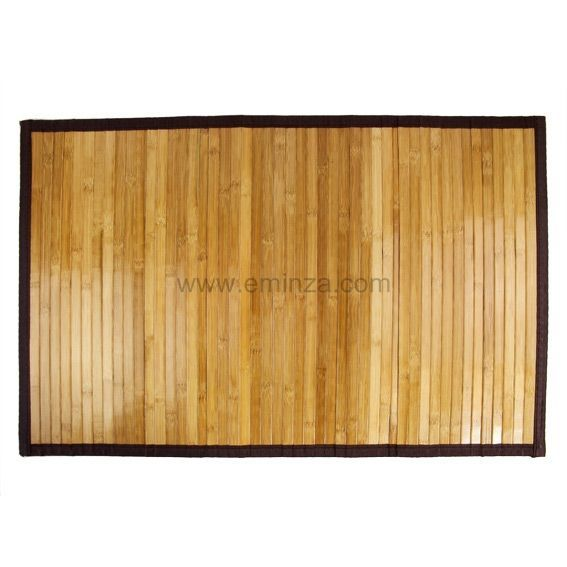 tapis de bain lattes fonc es bois bambou tapis eminza. Black Bedroom Furniture Sets. Home Design Ideas