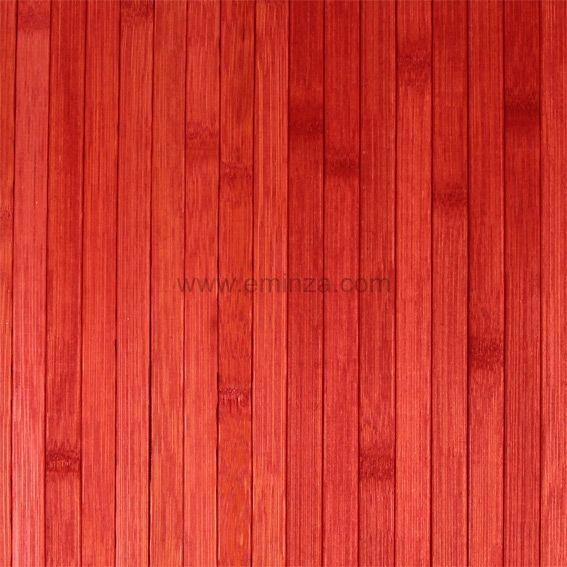 tapis de bain lattes bambou rouge tapis salle de bain eminza. Black Bedroom Furniture Sets. Home Design Ideas