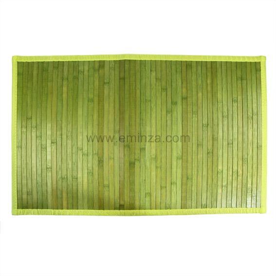 Tapis De Bain Lattes Bambou Vert Tapis Eminza