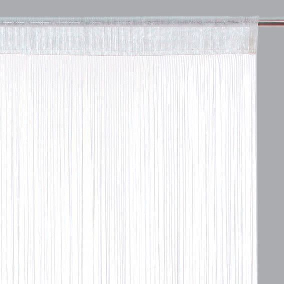 Rideau de fil (90 x H200 cm) Ruban Blanc - Rideau / Voilage / Store ...