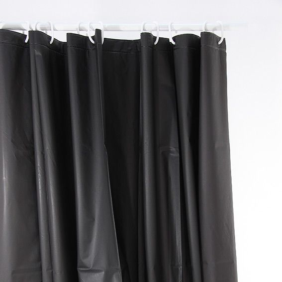 rideau de douche uni noir premium accessoire douche baignoire eminza. Black Bedroom Furniture Sets. Home Design Ideas