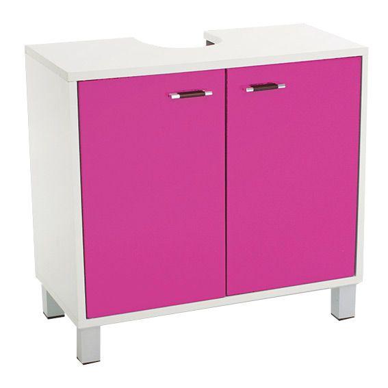meuble dessous lavabo dinamo rose meuble de salle de. Black Bedroom Furniture Sets. Home Design Ideas