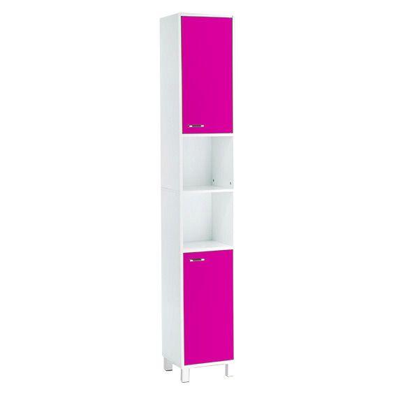 Meuble colonne salle de bain dinamo rose meuble colonne eminza - Meuble salle de bain rose ...
