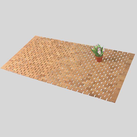 tapis de bain lattes bois bambou tapis eminza. Black Bedroom Furniture Sets. Home Design Ideas