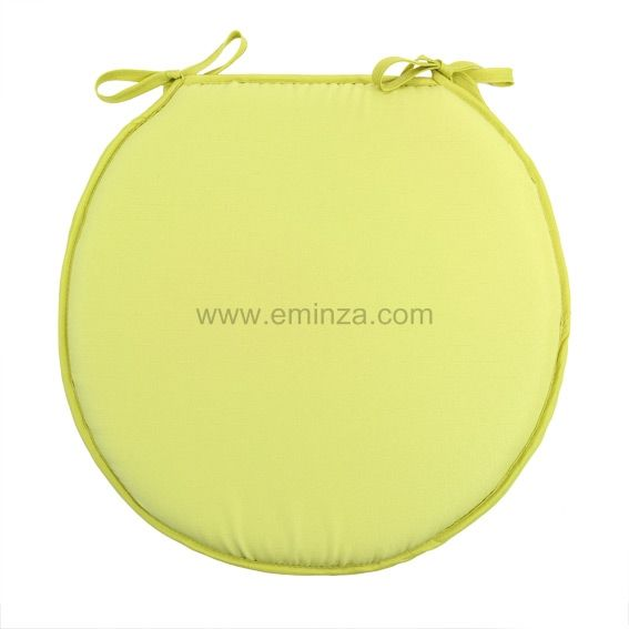Galette De Chaise Ronde Gamme Nelson Vert Anis