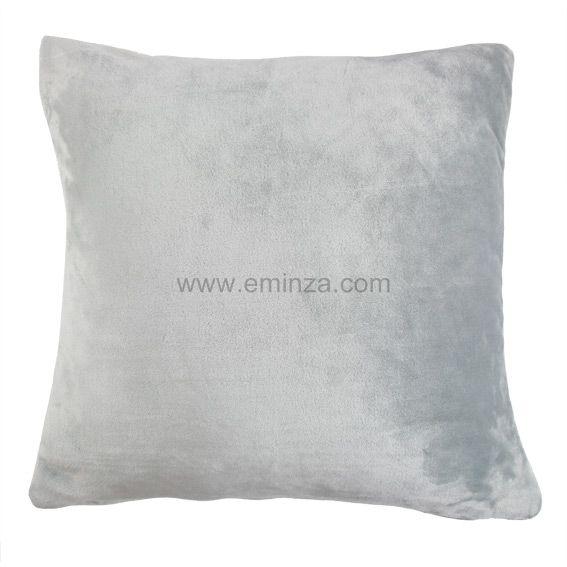 housse de coussin 60 cm doudou gris clair coussin et housse de coussin eminza. Black Bedroom Furniture Sets. Home Design Ideas