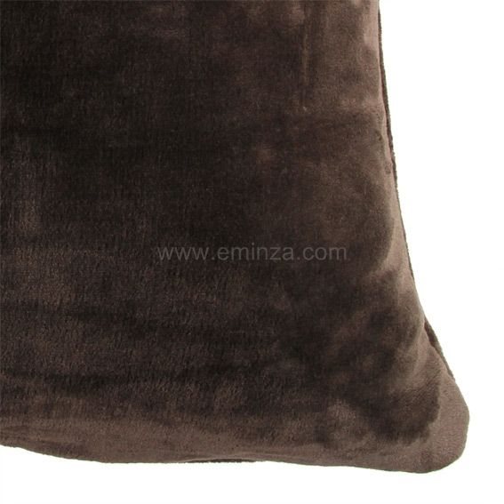 housse de coussin 60 cm doudou chocolat coussin et. Black Bedroom Furniture Sets. Home Design Ideas
