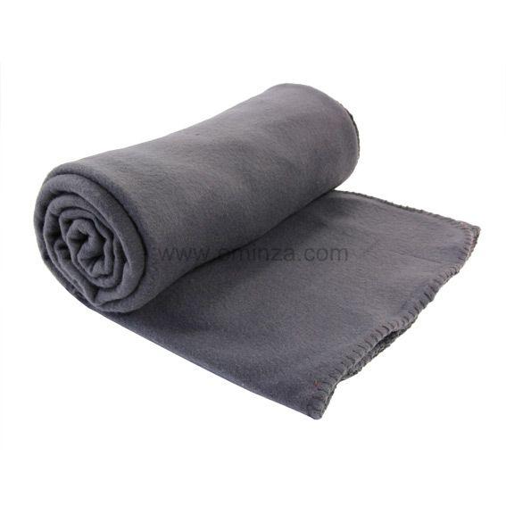 plaid polaire 220 cm harmonie gris anthracite d co textile eminza. Black Bedroom Furniture Sets. Home Design Ideas