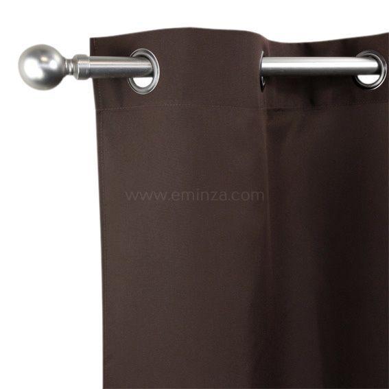 rideau tamisant 135 x h240 cm nelson chocolat rideau voilage store eminza. Black Bedroom Furniture Sets. Home Design Ideas