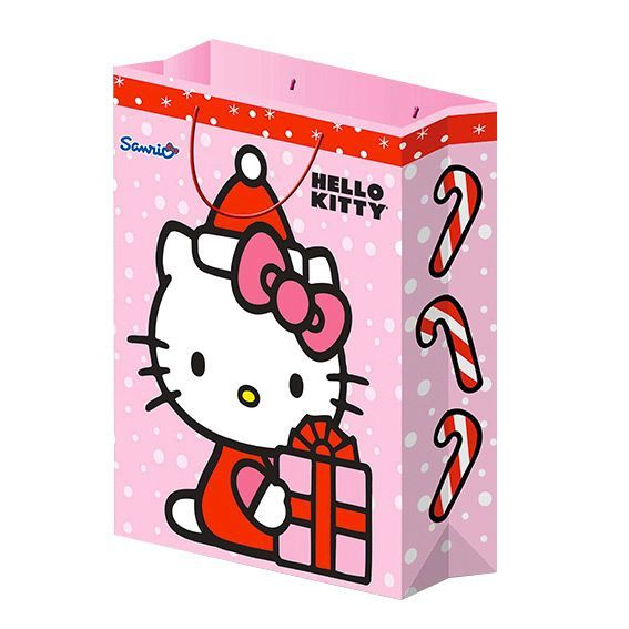 Sac cadeau H34,50 cm Hello Kitty