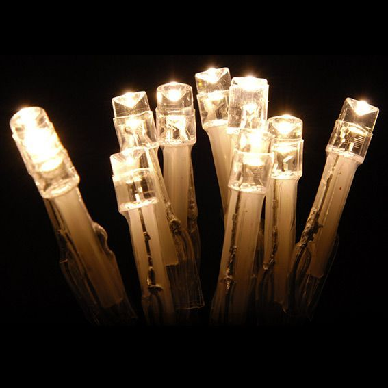 Guirlande lumineuse 10 LED CT 1 m Blanc chaud
