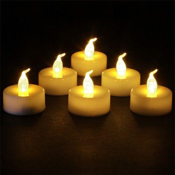Lot de 6 bougies chauffe plat LED Elyo Blanc chaud