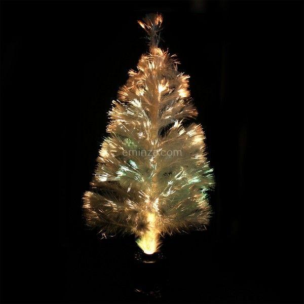 Sapin de Noël artificiel Fibre Optique Blanc 120 cm Eminza pour Noël