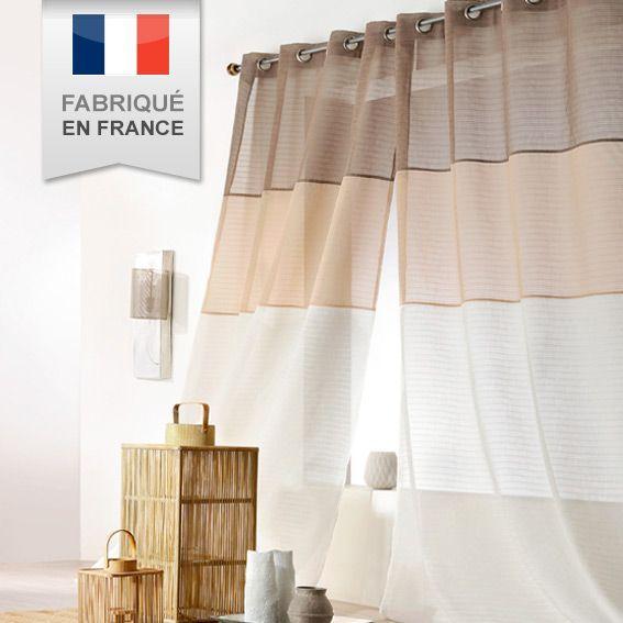Voilage (140 x H250 cm) Malaga Beige - Rideau / Voilage / Store - Eminza