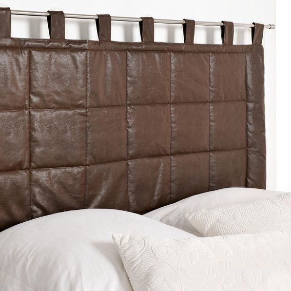 t te de lit 160 cm weston chocolat t te de lit eminza. Black Bedroom Furniture Sets. Home Design Ideas